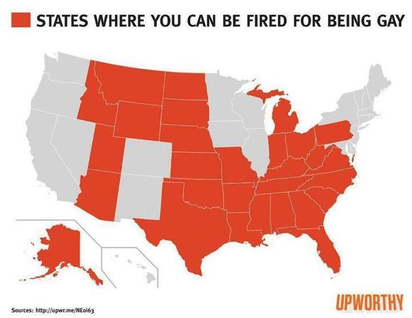 States where you can be fired simply because of your sexual orientation or gender identity